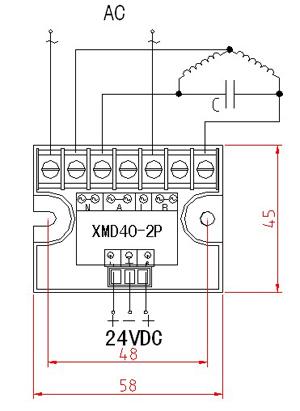 单相相固态电机正反转控制模块在输入控制端设置逻辑正反互锁电路